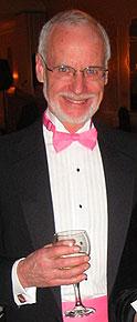 [In pink bow tie and cummerbund]