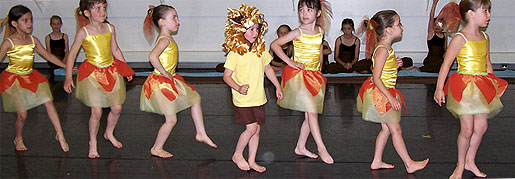 [Little girls in yellow and orange]