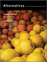 [Magazine cover with apples]