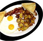[Eggs, potatoes and toast]