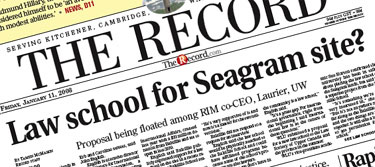 [Headline: Law school for Seagram site?]