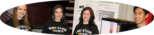 [Four in black UW T-shirts]