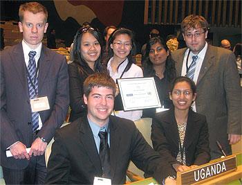 [Students at Uganda's desk]