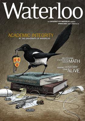 [Bird on magazine cover]