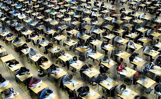[Exam hall]