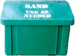A typical sand bin.