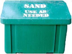 A sand bin.