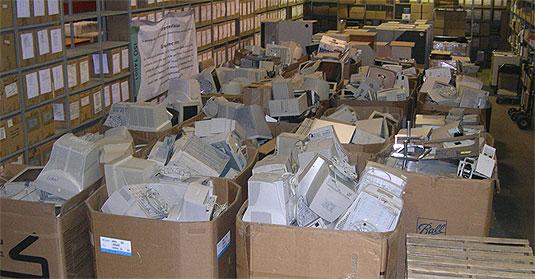 [Cardboard boxes across the floor]