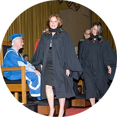 [Scene from fall convocation 2008]