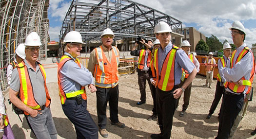 Ontario Premier Dalton McGuinty tours one of Waterloo's biggest capital projects, the QNC.
