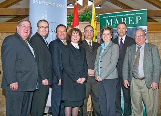 dignitaries at CURA funding announcement, Winston Park, Feb 4, 2010