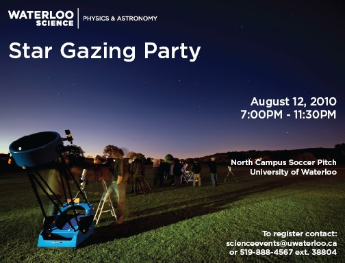 Postcard for the Faculty of Science Star Gazing party