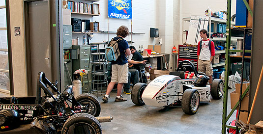 [Vehicles and workshop in Student Design Centre]
