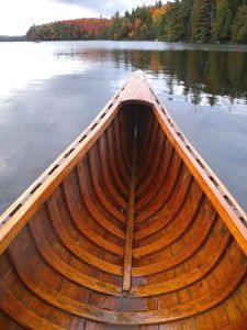 canoe prow in Canoe lake