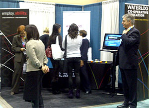 [Booth at HRPA convention]