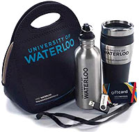 [Water bottle, lanyard and other essentials]