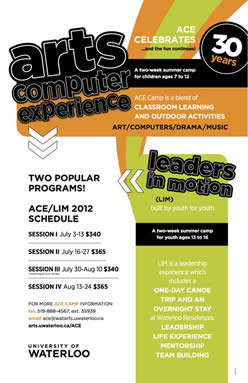 Arts Computer Experience poster.
