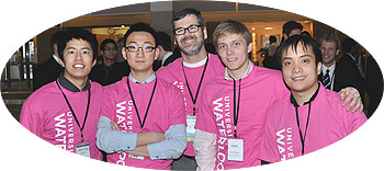 [Five in pink shirts]