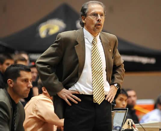 Men's basketball coach Tom Kieswetter.