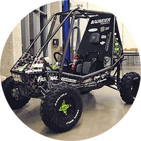 [Baja vehicle, like a dune buggy]