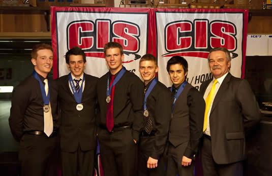 Waterloo Warriors men's curling team.