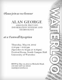 Alan George farewell poster.