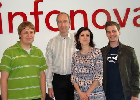Two students and two Austrian staff members related to CANEU Co-op