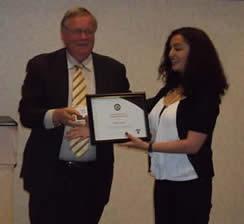 Shireen Aslam wins the Pragma graduate award.