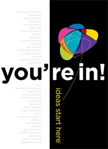 A folder for prospective students.