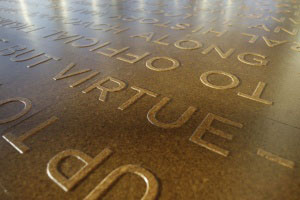 [Engraving on floor of OSU library]