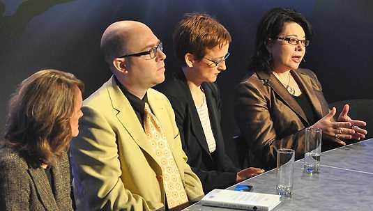 [Four panelists]