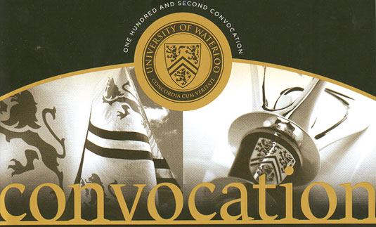 [Convocation program cover]