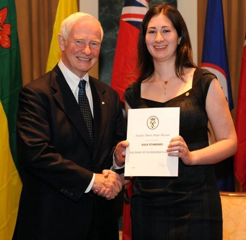 Governor General David Johnston and Duke of Edinburgh winner