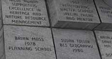Bricks with the names of donors inscribed upon.