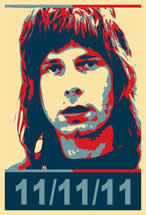 A poster depicting Spinal Tap character Nigel Tufnel in the spirit of Obama's 'Hope' poster.