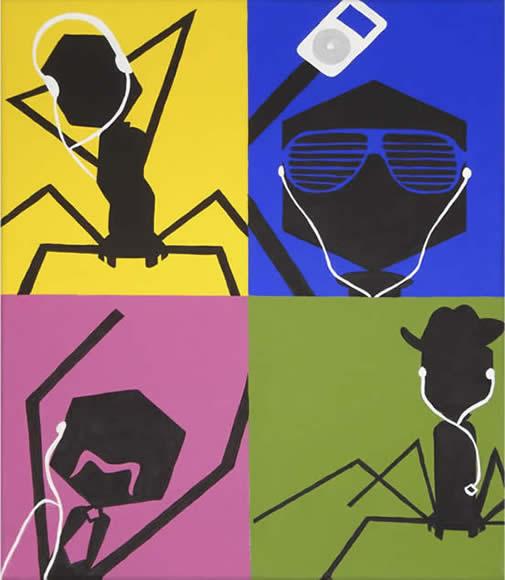 Bacteriophage meet the iPod dance