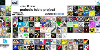 A picture of the periodic table project.