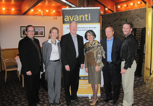 Avanti Systems owners pose with University of Waterloo staff.