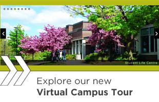 Virtual campus tour logo.