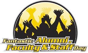 Fantastic Alumni, Faculty, and Staff Day logo.