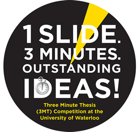 Three-Minute Thesis Project logo.