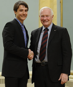 Jean-Philippe MacLean and Governor General David Johnston.