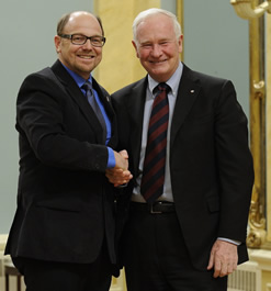 Brian Dixon and Governor General David Johnston.
