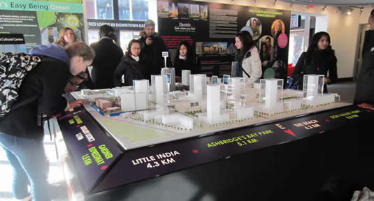 The master plan model of the Regent Park redevelopment.