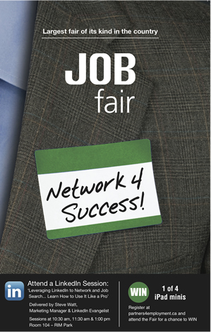 "A close-up of a man's suit jacket, with a nametag that says ""Network 4 Success."""