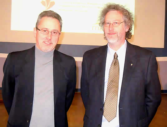 Phillipe van Cappellen and David Cory at the CERC event on Wednesday.