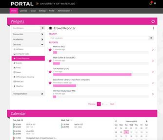 A screenshot of the student portal.