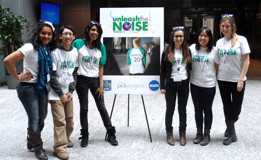 University of Waterloo students at Unleash the Noise.