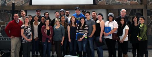 Students at the Aboriginal entrepreneurship workshop.