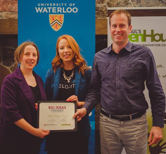 Rachel Friesen accepts her award.